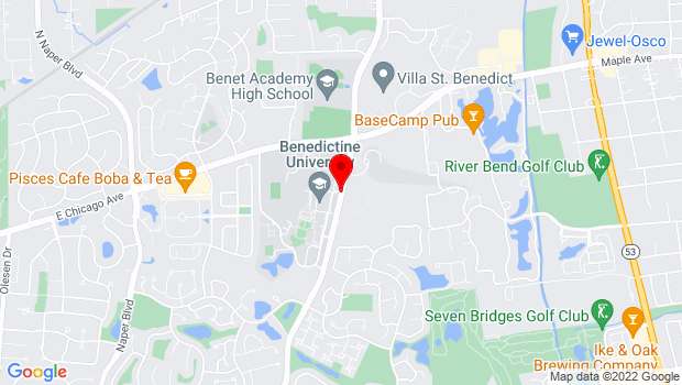 Google Map of 5702 College Rd., Lisle, IL