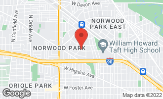 Map of 5707 North New Hampshire Avenue CHICAGO, IL 60631