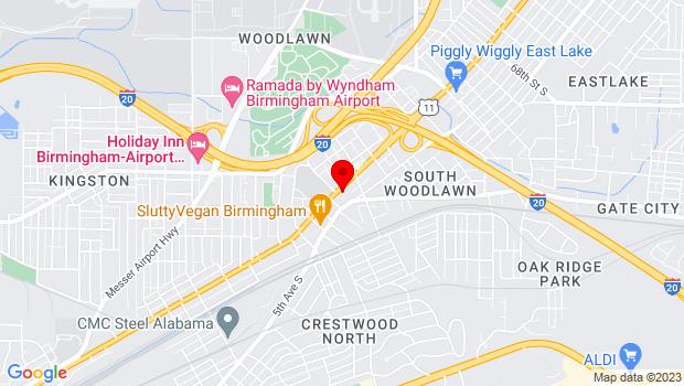 Google Map of 5709 1st Ave N, Birmingham, Alabama 35212