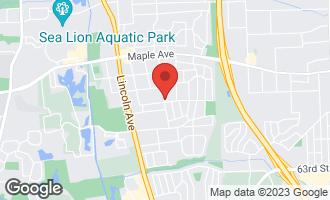Map of 5716 Kingston Avenue LISLE, IL 60532