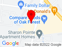 Google Map of 5727 N Sharon Amity