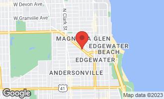 Map of 5732 North Ridge Avenue 1S CHICAGO, IL 60660