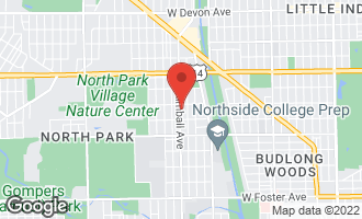 Map of 5741 North Kimball Avenue 3A CHICAGO, IL 60659
