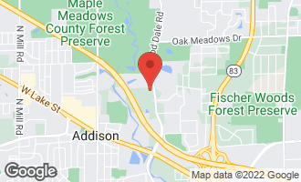 Map of 575 Arthur Avenue Addison, IL 60101
