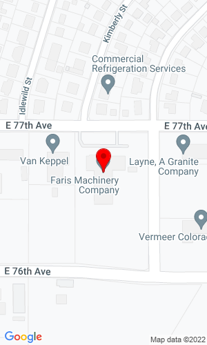Google Map of Faris Machinery Company 5770 E 77th Avenue, Commerce City, CO, 80022