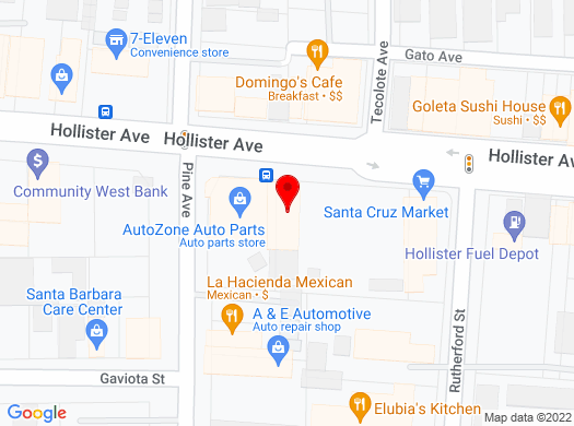 Google Map of 5777 Hollister Ave