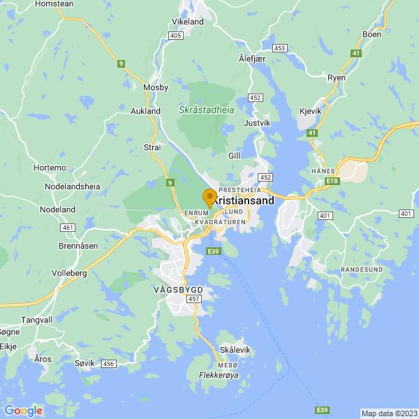 Google Map of 58.1550214,7.985170699999999