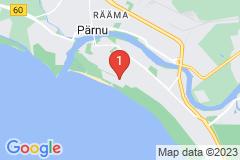Google Map of Pärnu Lomahuoneisto kaksio - Papli