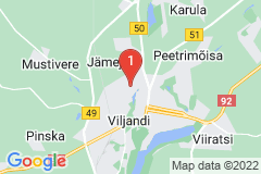 Google Map of Lomamökki - Viljandi