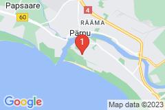 Google Map of Pärnu Lomahuoneisto 13 - Yksio Roosi