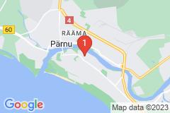 Google Map of Lomahuoneisto 1 - Kolmio Kalamehe