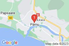 Google Map of Kaksio-Tallinna/Pärnu