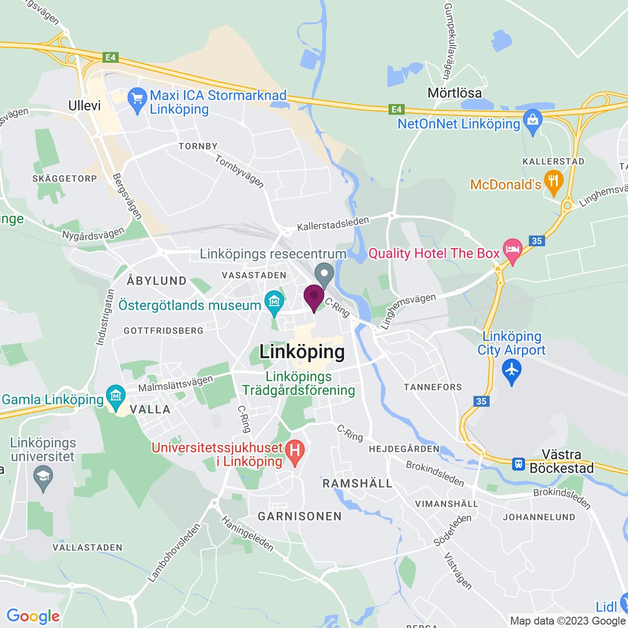 Kort över S:t Larsgatan 9 A