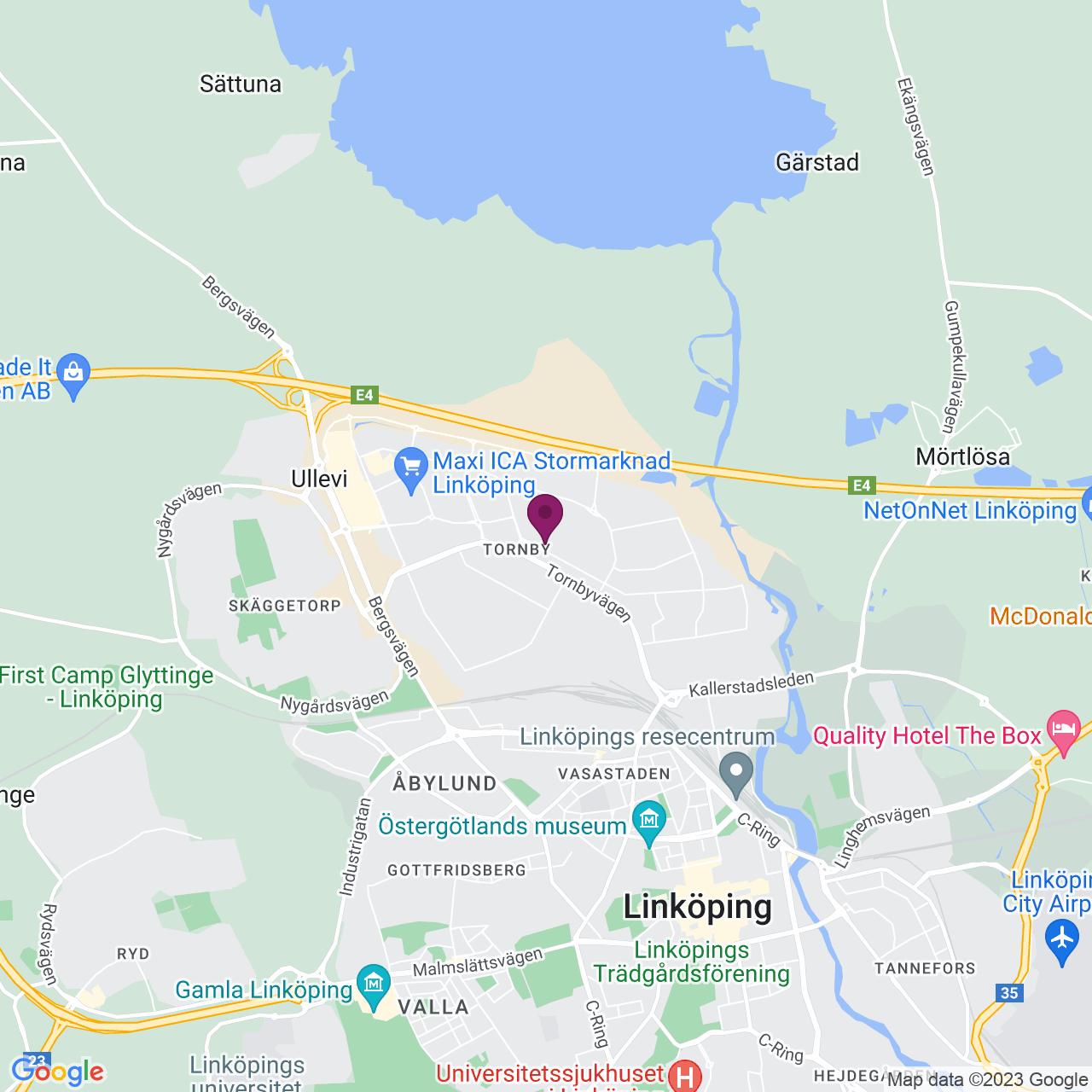 Karta över Gillbergagatan 45 C