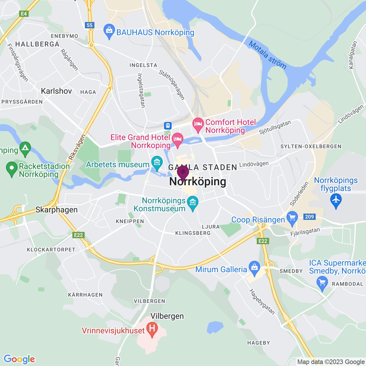 Karta över Prästgatan 12 B
