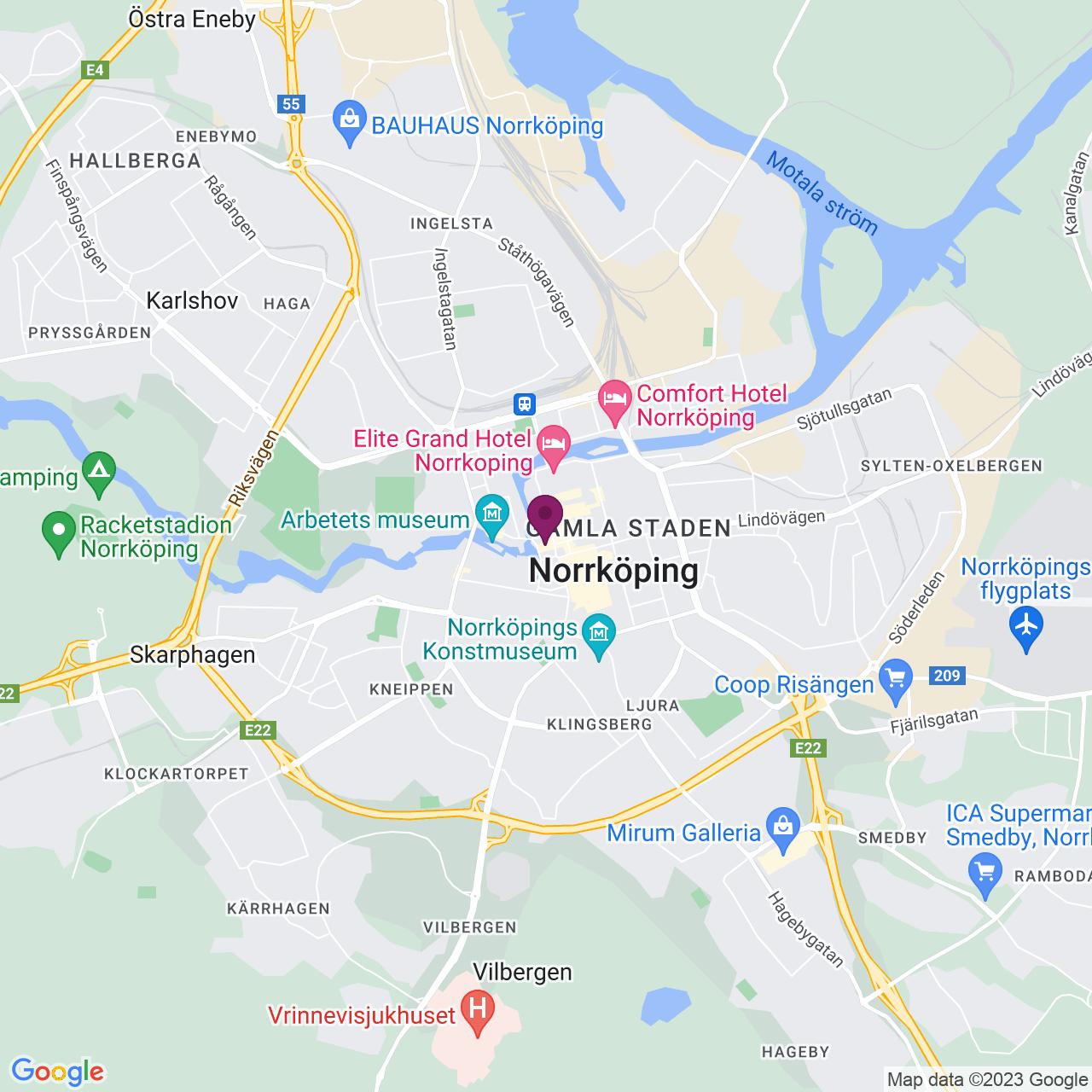 Map of Skolgatan 1 A