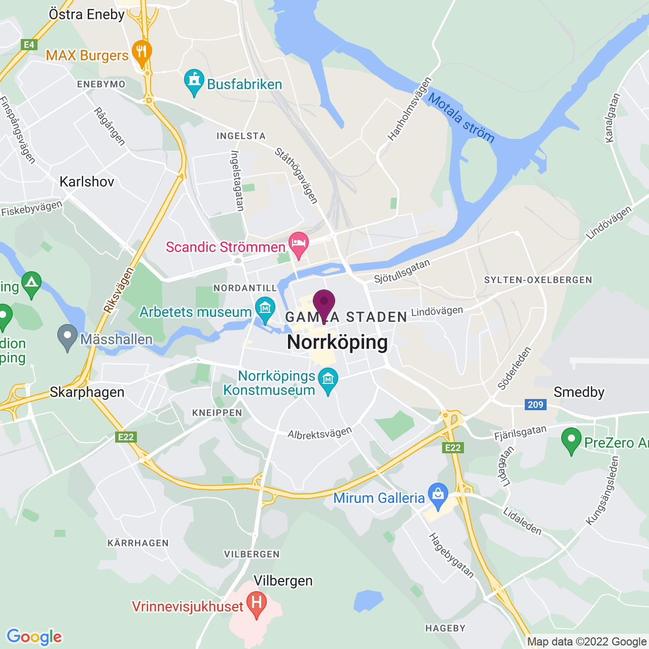 Map of Repslagaregatan 15