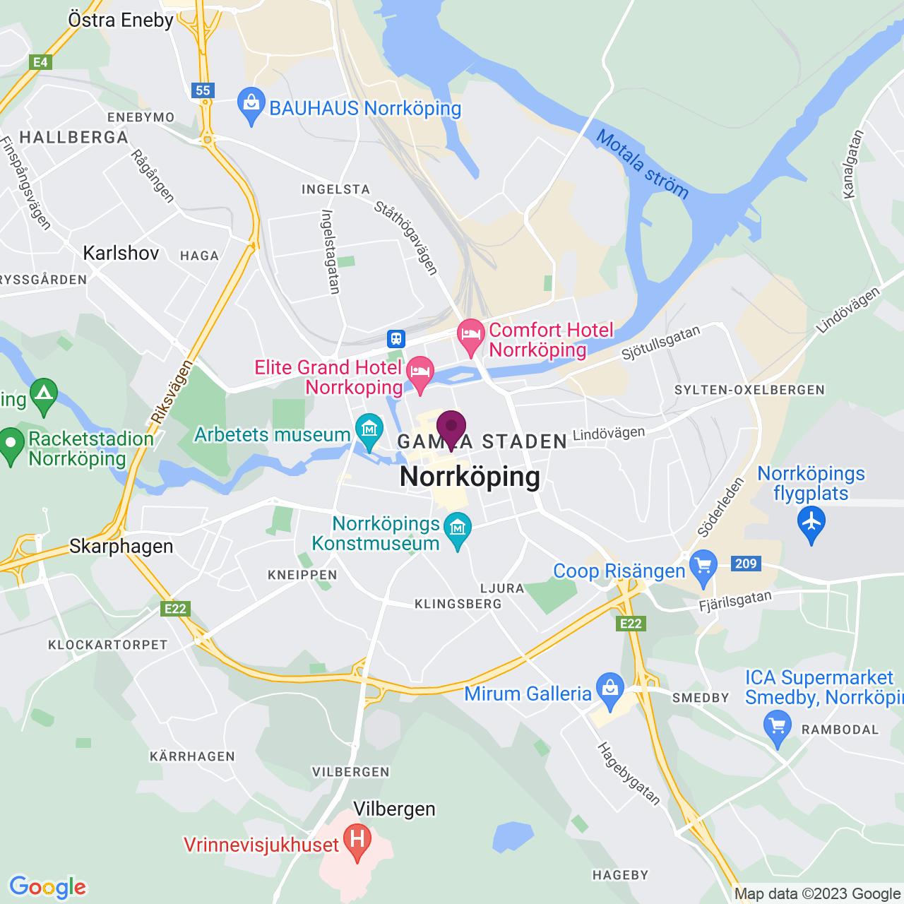 Karta över Repslagaregatan 15