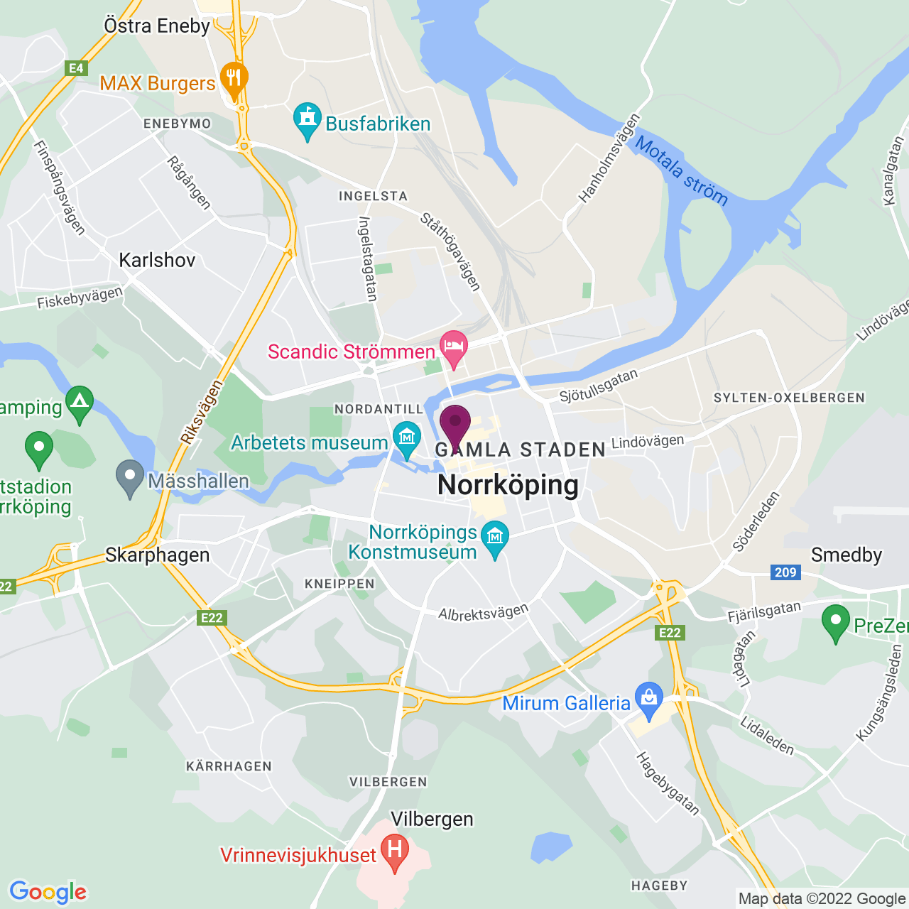 Map of Gamla Rådstugugatan 30