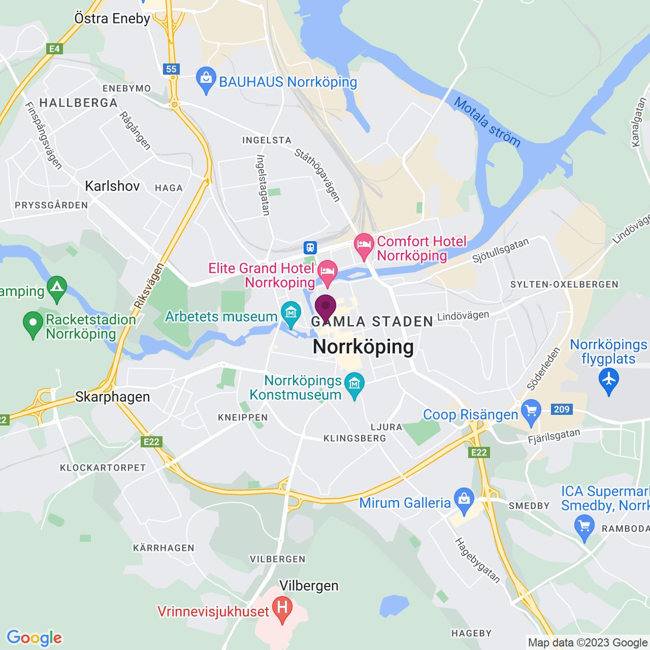 Karta över Gamla Rådstugugatan 30