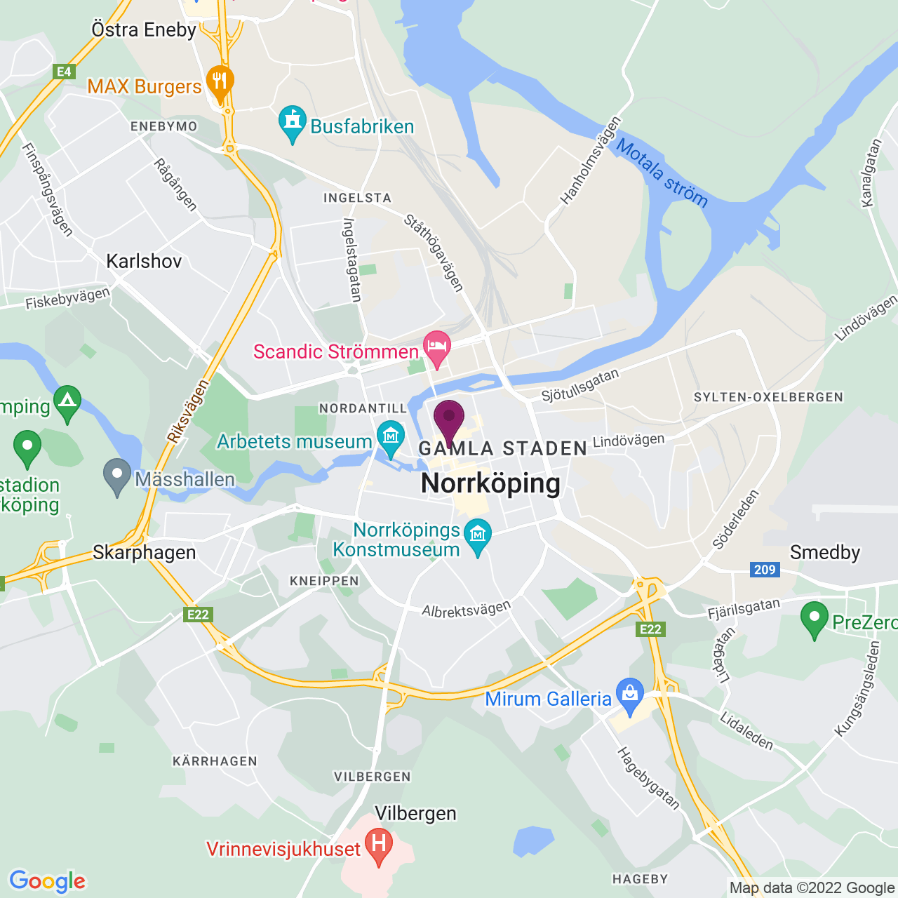 Map of Drottninggatan 32