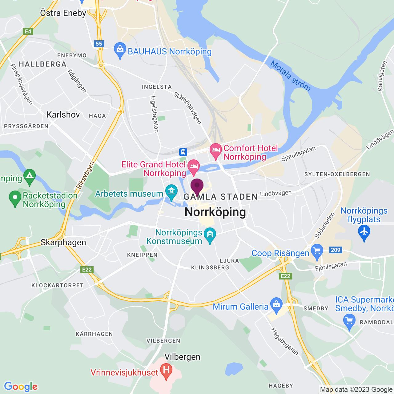 Karta över Drottninggatan 32