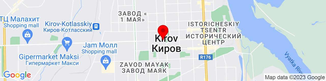 Google Map of 58.6035321, 49.66679829999998