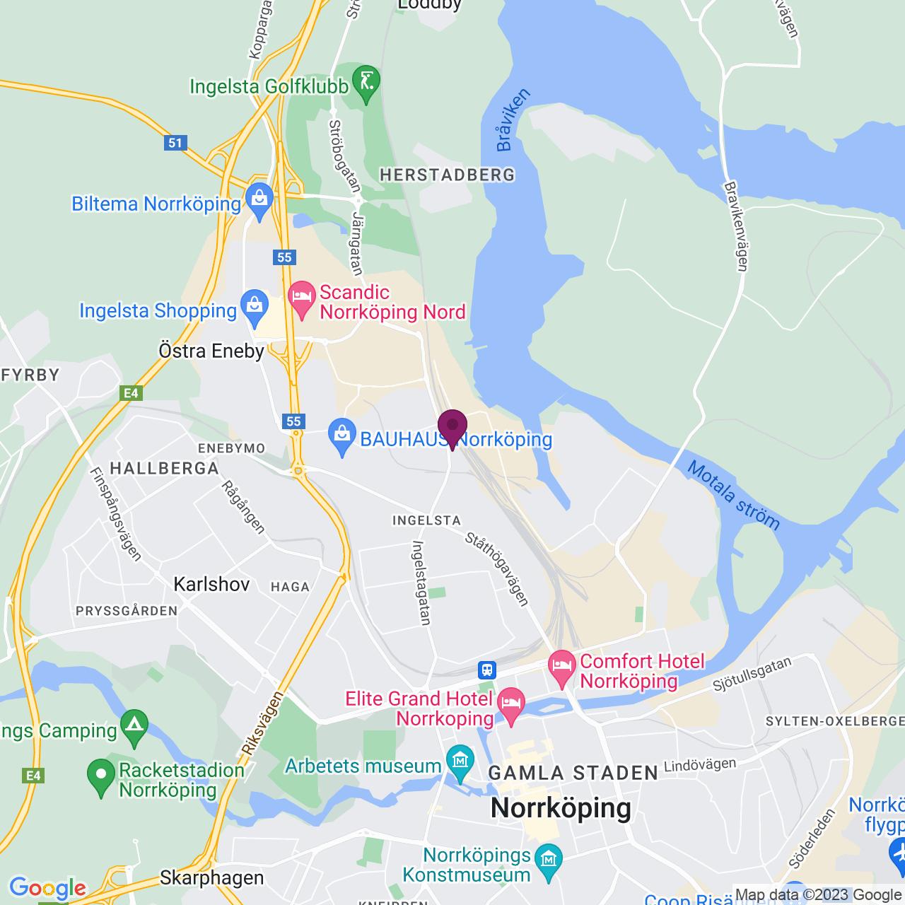 Map of Malmgatan 16