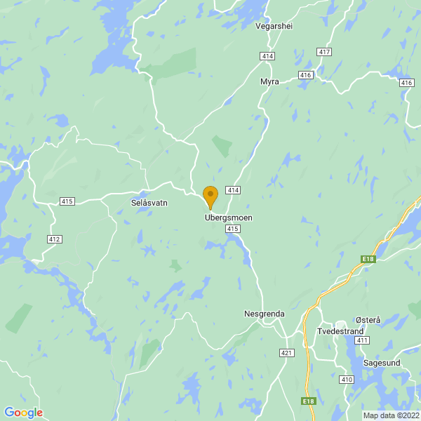 Google Map of 58.683877,8.804098