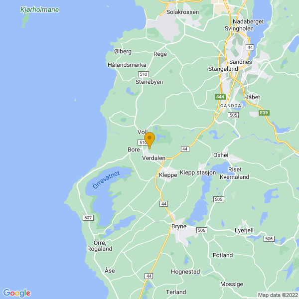 Google Map of 58.79078019999999,5.607320899999999
