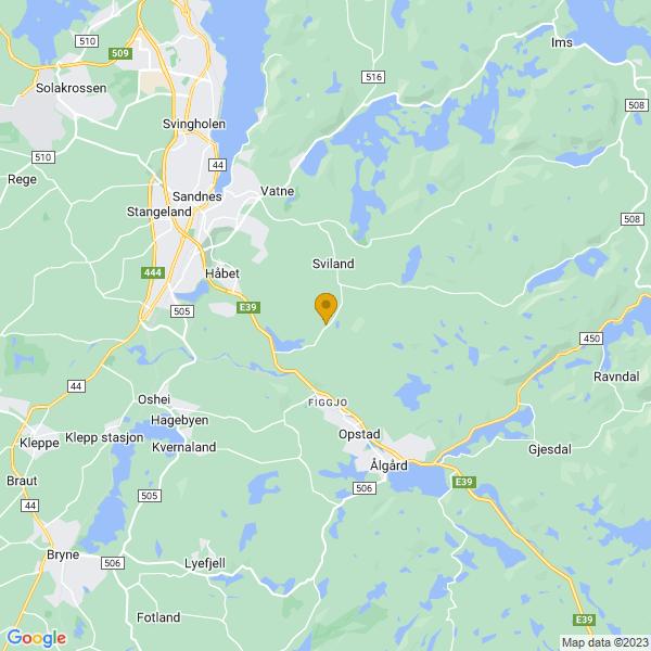 Google Map of 58.8109374,5.8140339