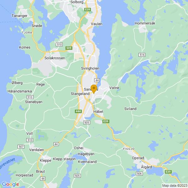 Google Map of 58.8477986,5.738739799999999