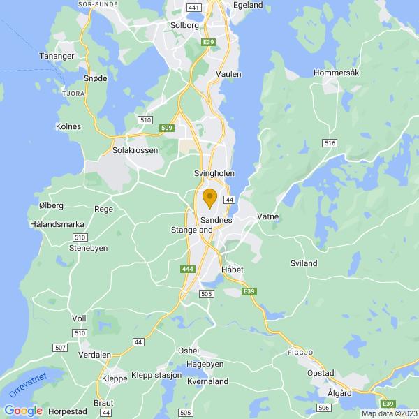 Google Map of 58.85847909999999,5.725959999999986