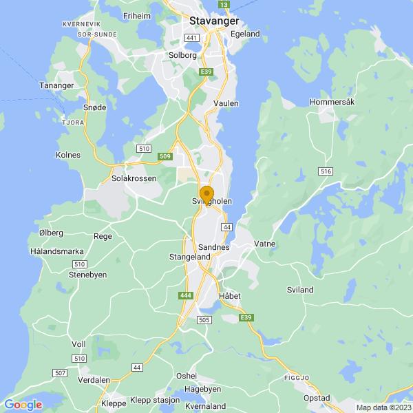 Google Map of 58.87405380000001,5.7252879
