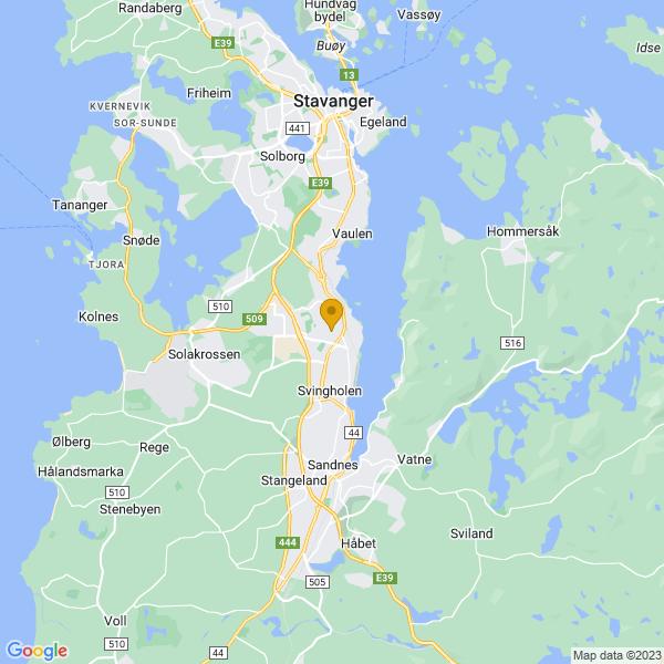 Google Map of 58.8958343,5.732095200000003