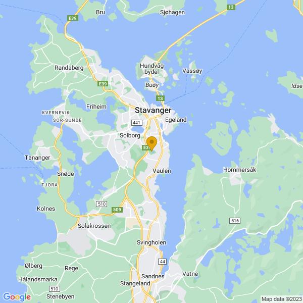Google Map of 58.94085499999999,5.7309003