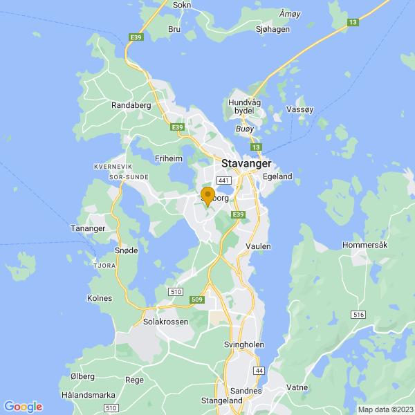 Google Map of 58.94733629999999,5.6943639