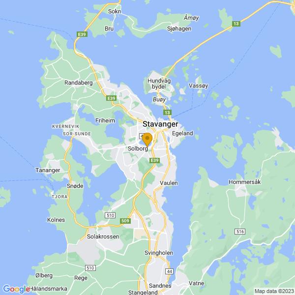 Google Map of 58.95275615975286,5.714775202130111