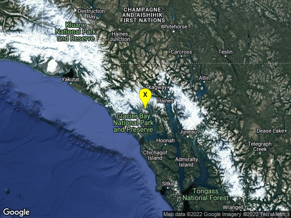 earthquake 59km WSW of Haines, Alaska