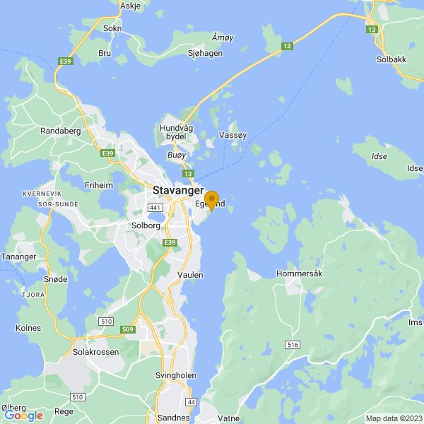 Google Map of 58.9588171,5.7657033
