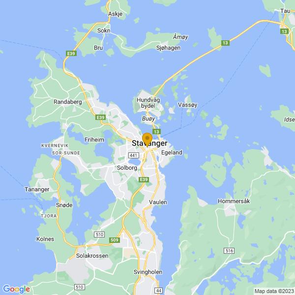 Google Map of 58.9667709,5.729800500000001