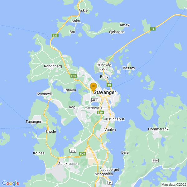 Google Map of 58.96847109999999,5.7081039