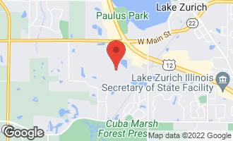 Map of 580 Peachtree Lane LAKE ZURICH, IL 60047