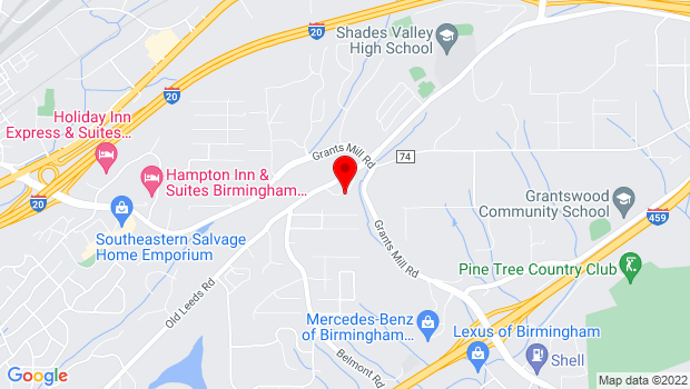 Google Map of 5817 Old Leeds Road, Irondale, Alabama 35210-2164