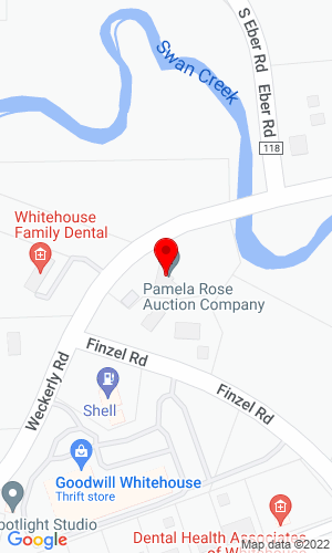 Google Map of Pamela Rose Auction Company, LLC 5825 Weckerly Road, Whitehouse, OH, 43571