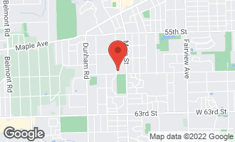 Map of 5837 Carpenter Street DOWNERS GROVE, IL 60516