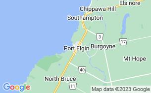 Map of Port Elgin Municipal Tourist Camp