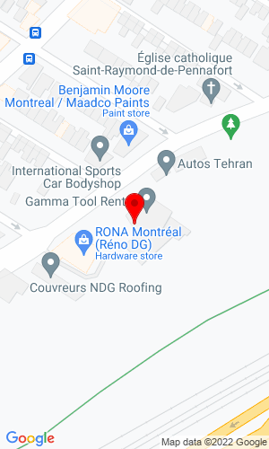 Google Map of Gamma Tool Rental 5844 Rue St- Jacques Ouest, Montreal, QC, H4V 2E9