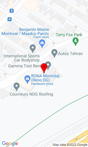 Google Map of Gamma Tool Rental 5844 Rue St- Jacques Ouest, Montreal, Quebec, Canada, H4V 2E9