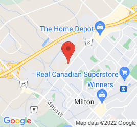 Google Map of 585+Steeles+Ave+E%2CMilton%2COntario+L9T+1Y6